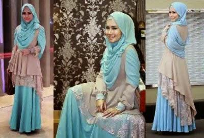Baju muslim brokat yang syar'i dan anggun