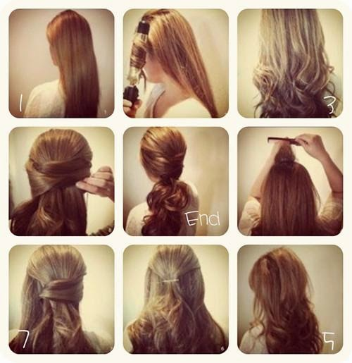 Strange Easy Hairstyles For Long Hair Step By Step Carolin Style Hairstyle Inspiration Daily Dogsangcom