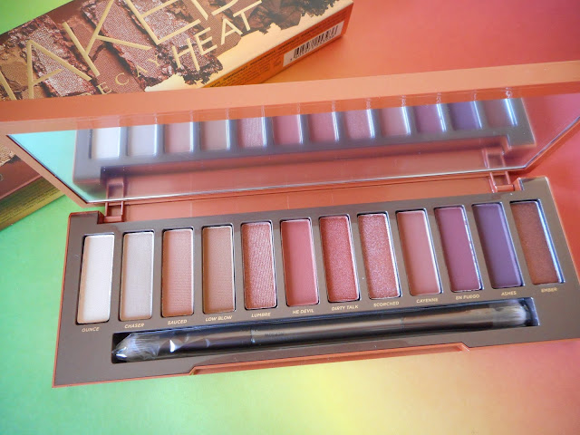 Urban Decay Naked Heat - The inside
