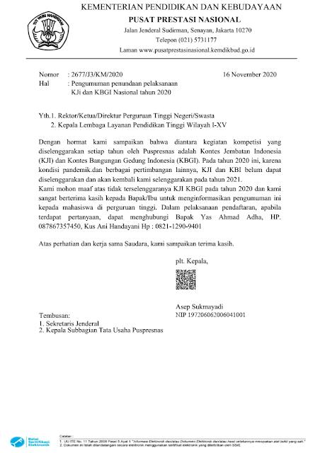 surat edaran kemendikbud tidak akan menyelenggarakan kji kbgi tahun 2020 tomatalikuang.com