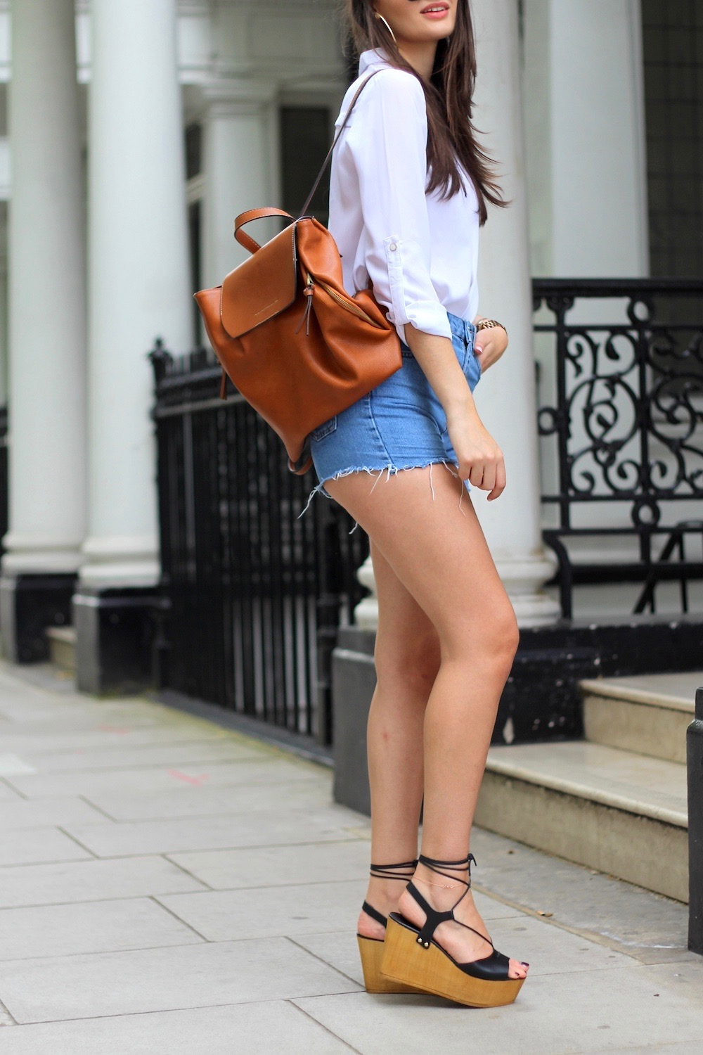 flatforms denim cutoffs london style