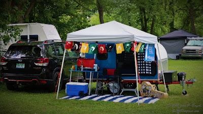Semibluegrass Camper Setup at a Festival