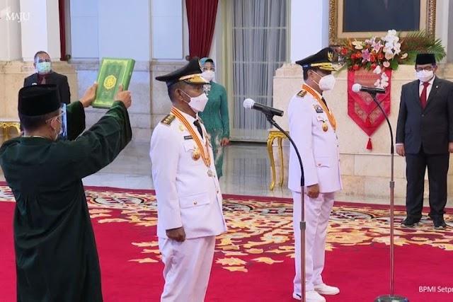 Presiden Jokowi Lantik Gubernur dan Wakil Gubernur Sulawesi Tengah