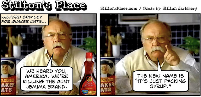 stilton's place, stilton, political, humor, conservative, cartoons, jokes, hope n' change, blm, aunt jemima, brimley