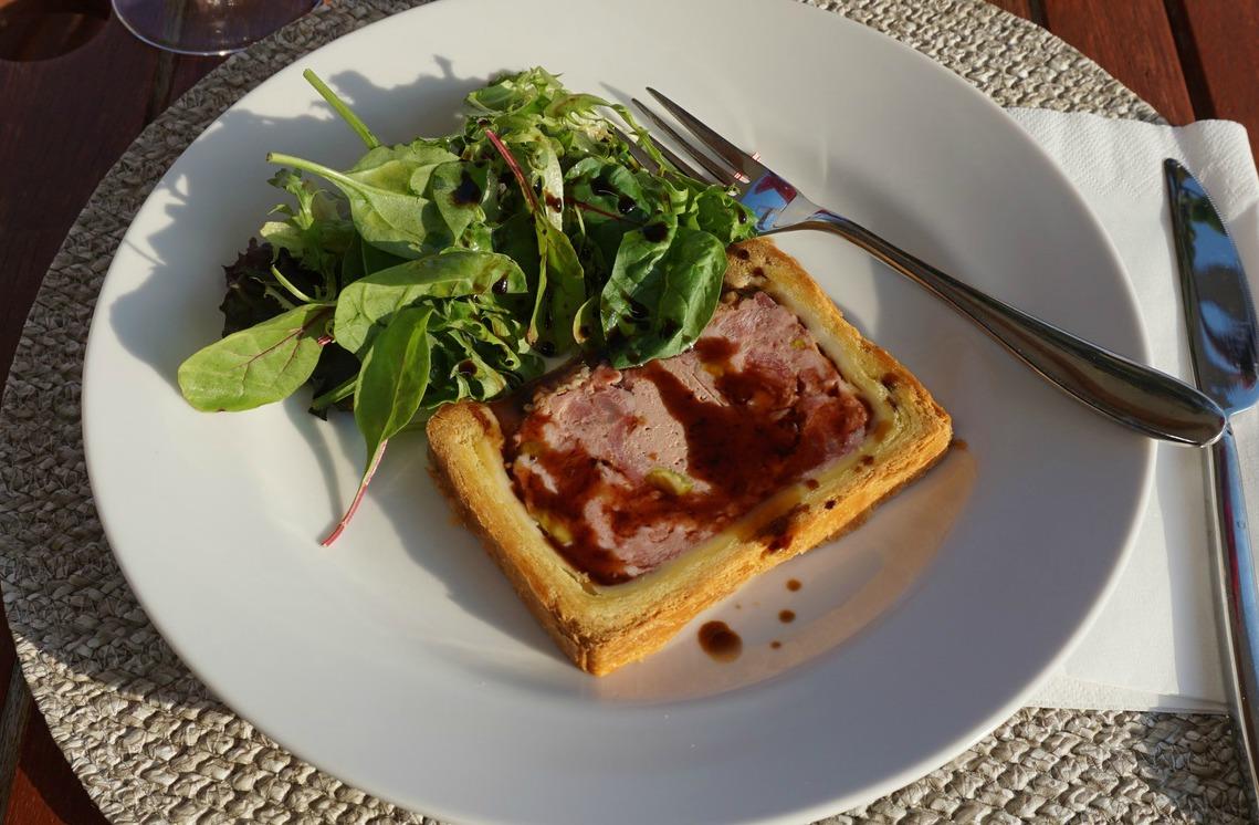 Paté with mesclun