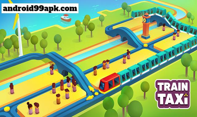 لعبة Train Taxi mod v1.4.2 مهكرة بحجم 33 MB للأندرويد