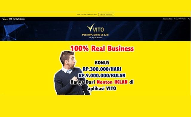 Aplikasi Vito: Bisnis Penghasil Uang Cepat & Lagi Trending di Tahun 2021
