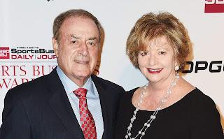Linda Anne Stamaton with her husband Al Michaels
