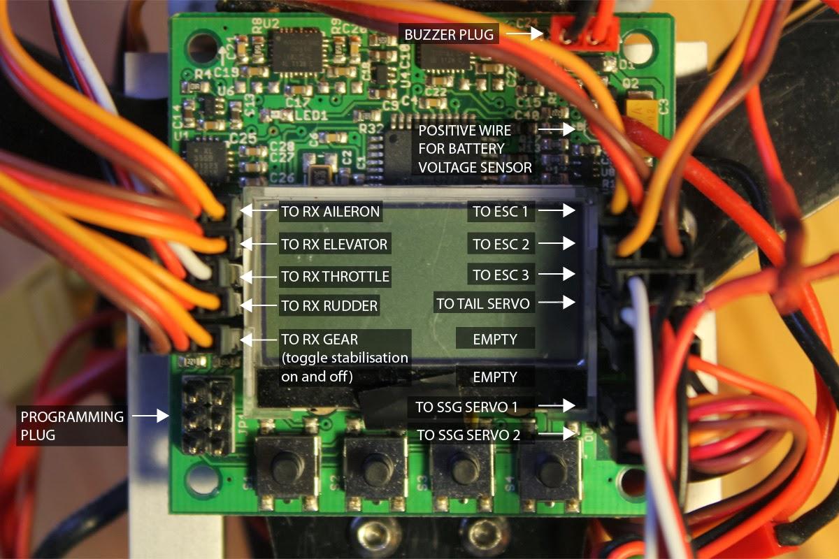fpv gauge wiring diagram 36 volt ez go golf cart battery kk2 schematic circut tricopter board