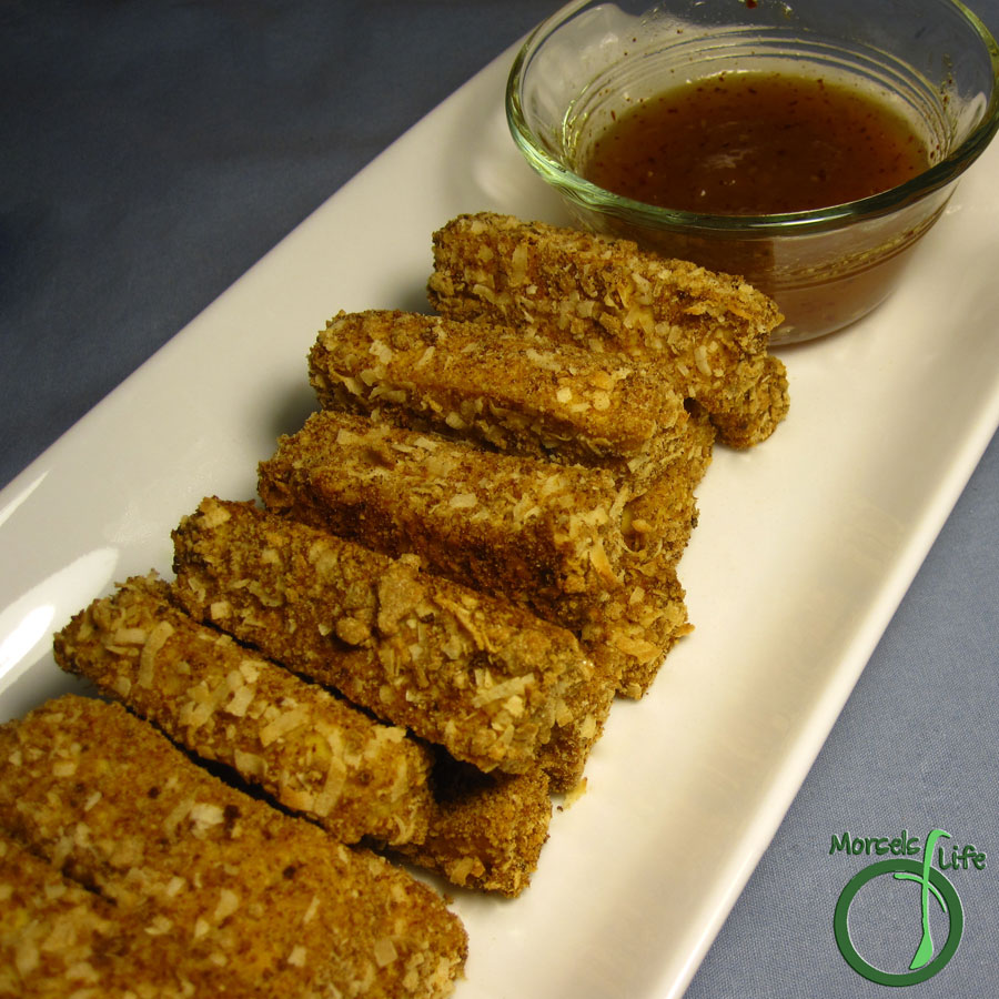 Morsels of Life - Crispy Coconut Tofu- - Tofu sticks coated with coconut and baked to a crispy perfection.