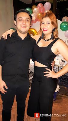 Alejandro Peraza y Gloria Ross.