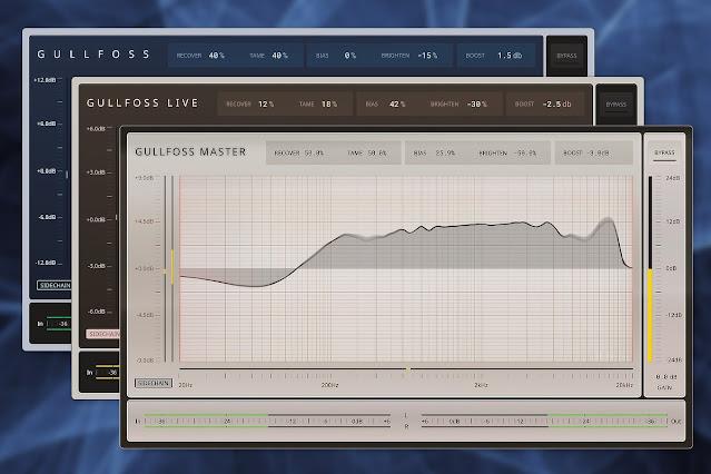 Interface do plugin Soundtheory - Gullfoss 1.10.0