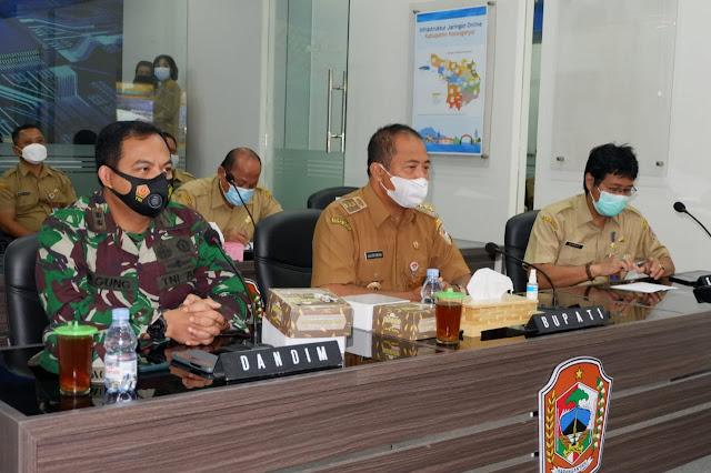 Vidcon Rapat Satuan Tugas Penanganan Covid - 19 Provinsi Jawa Tengah