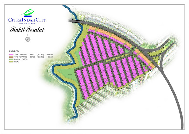 Siteplan Cluster Bukit Teratai Citra Indah City