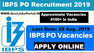 IBPS PO Recruitment Notification 2019