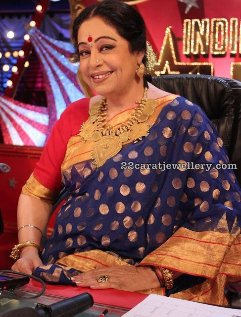 Kirron Kher in Antique Traditional Set