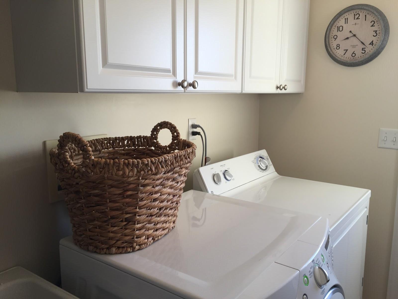 Sock Basket in Laundry Room