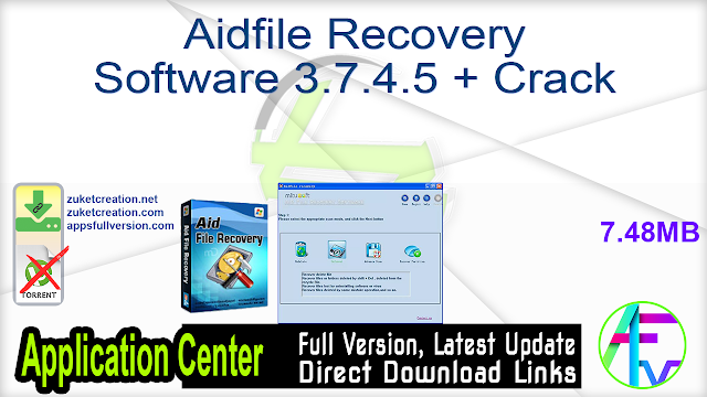 Aidfile Recovery Software 3.7.4.5 + Crack