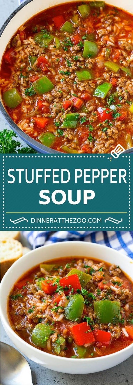 Stuffed Pepper Soup Recipe | Beef and Rice Soup | Stuffed Peppers #peppers #soup #beef #rice #dinner #dinneratthezoo