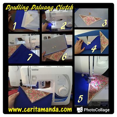Tahapan Membuat Daluang Clutch Bag