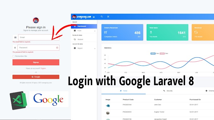 Login with Laravel 8 and Socialite, Google