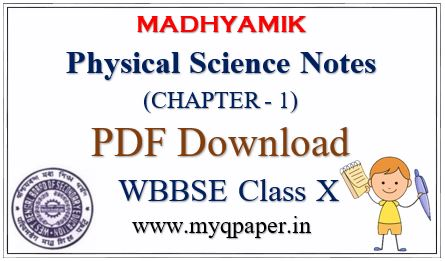 Download Madhyamik Physical Science Notes   Chapter 1   Class X   Concerns about our Environment   West Bengal Board   PDF Download   Madhyamik Examination 2021