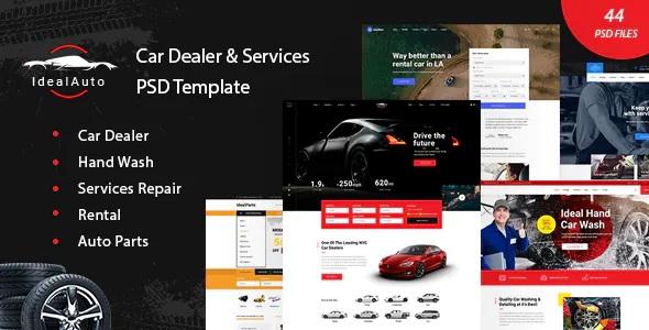 Best Car Dealer & Services PSD Template