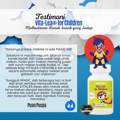 Testimoni Vitalea For Children Untuk Anak Picky Eater