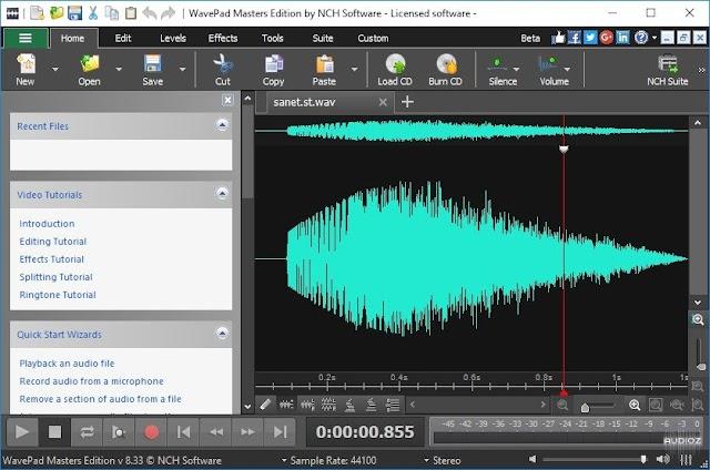 WavePad Sound Editor Masters 10.04 - Phần mềm chỉnh sửa âm thanh