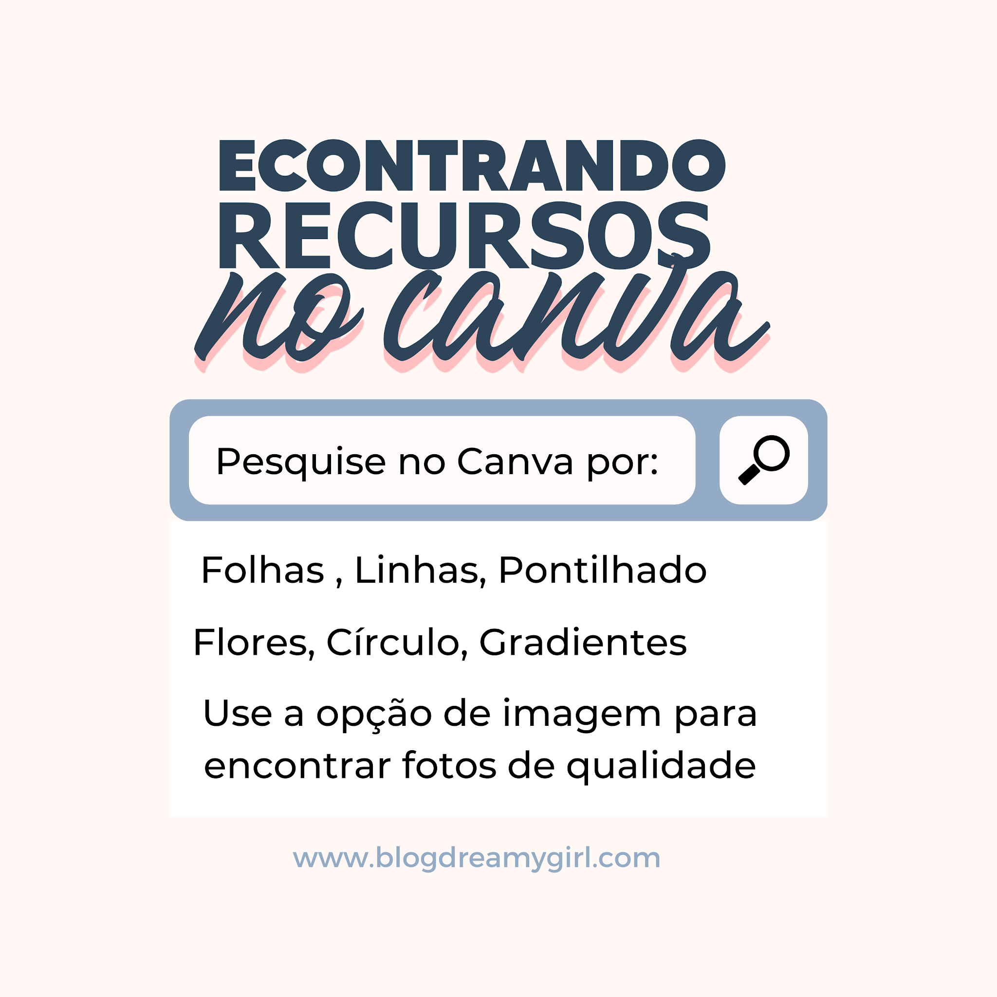 Encontrar designs no Canva