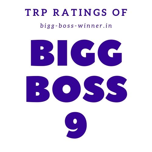 Bigg Boss 9 TRP Ratings