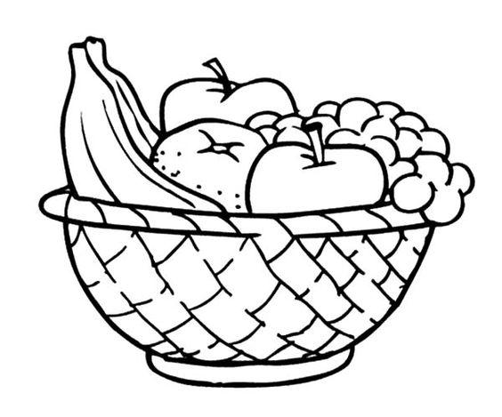 Hình tô màu đĩa hoa quả
