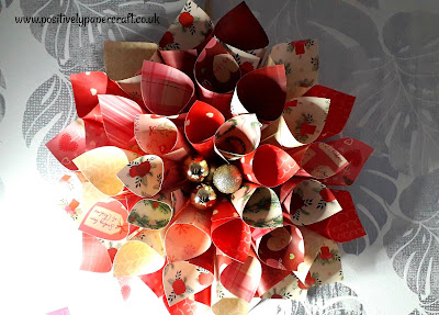 Positivelypapercraft Paper cone wreath, #christmaswreath