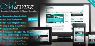 Maxxiz blogger template free download