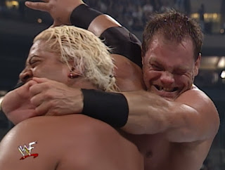 WWE / WWF King of the Ring 2000 - Chris Benoit struggles to put RIkishi in the Crippler Crossface