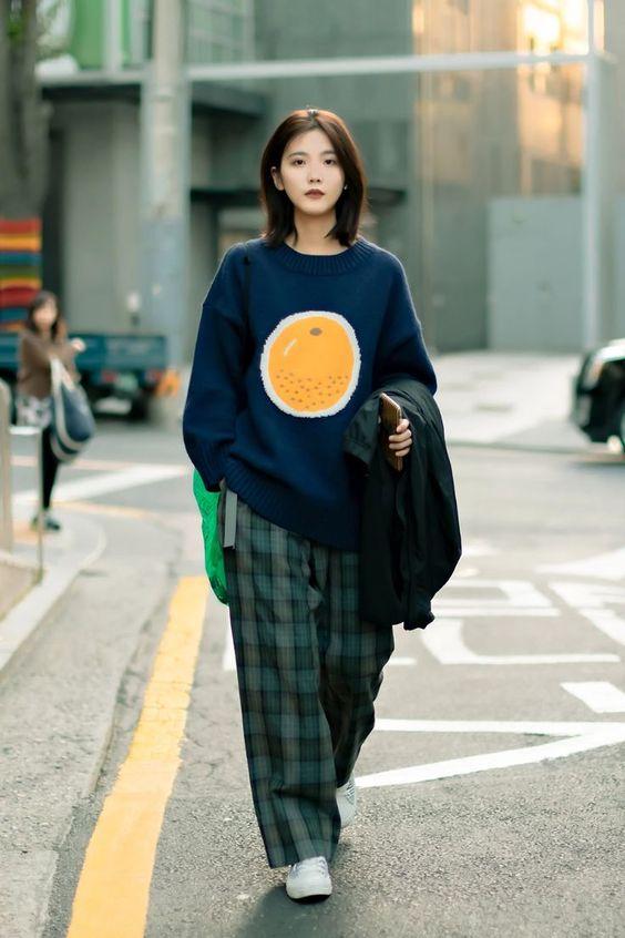 Estilo coreano feminino street style