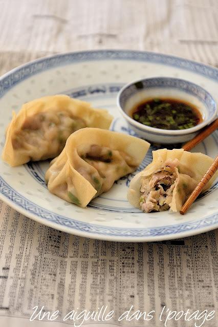 raviolis-chinois-porc-crevette-coriandre-gingembre