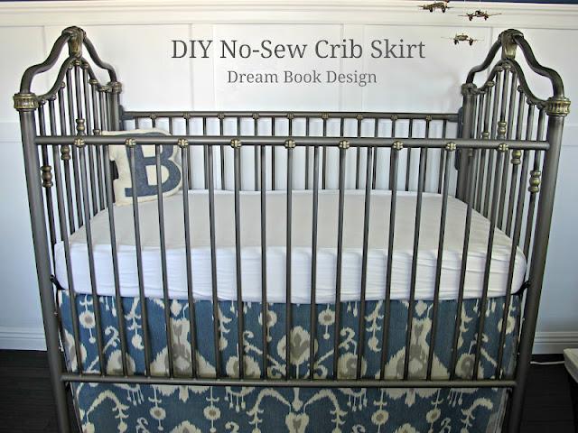 Diy No Sew Crib Skirt Dream Book Design