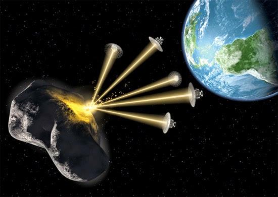 tecnologia laser mover asteroide