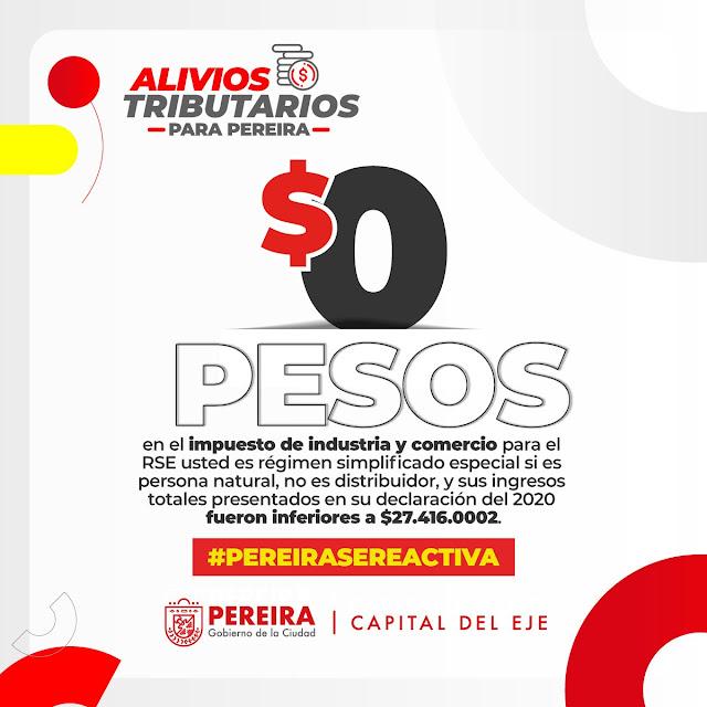 Por segunda vez, pequeños empresarios de Pereira no tendrán que pagar impuestos