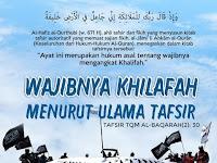 WAJIBNYA KHILAFAH MENURUT ULAMA TAFSIR: TAFSIR SURAH AL BAQARAH 30