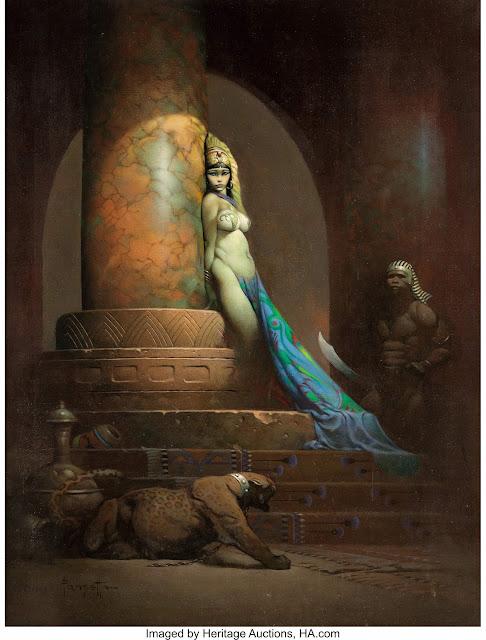 Egyptian Queen by Frank Frazetta