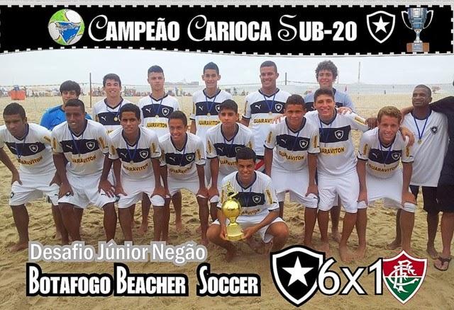 4b4e9e0bcc O Botafogo foi o grande vencedor do  Desafio Júnior Negão Sub-20