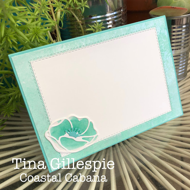 scissorspapercard, Stampin' Up!, Colour Creations, Beautiful Moments, Poppy Moments Dies, Stitched Rectangle Dies, Subtle 3DEF, Faux Mother Of Pearl