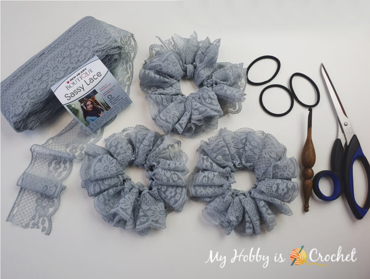 Crochet Sassy Lace Hair Scrunchies