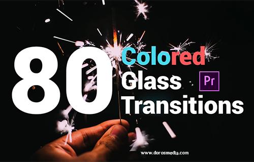 انتقالات ادوبي بريمير قالب انتقالات زجاجية ملونة مميزة  للمونتاج لبرنامج أدوبي بريمير Colored Glass Transitions
