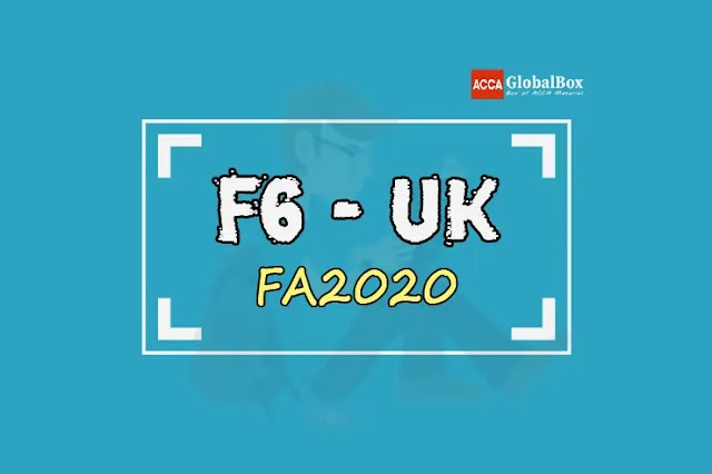 F6 - (FA2020) | Taxation (TX-UK) | BPP - STUDY TEXT and KIT | till March 2022