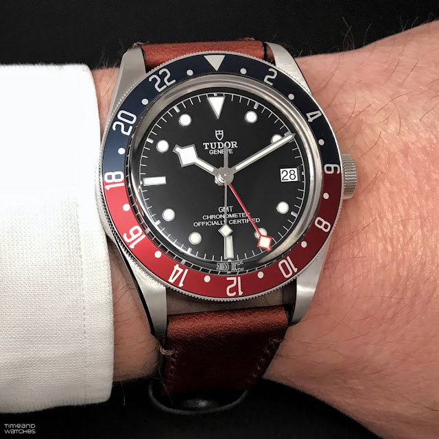 Wristshot of the new Tudor Black Bay GMT