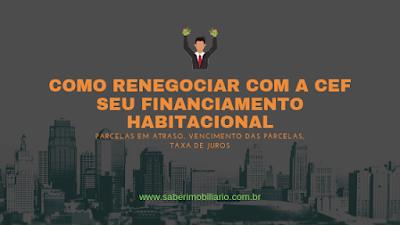 COMO RENEGOCIAR COM A CEF SEU FINANCIAMENTO HABITACIONAL