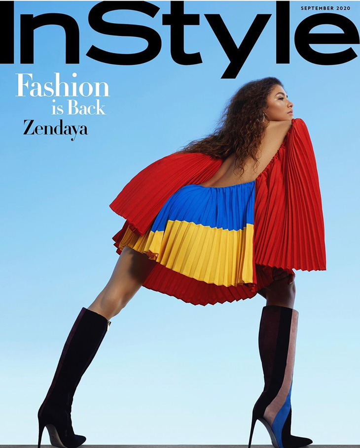 American InStyle features actress Zendaya on the cover of their latest edition